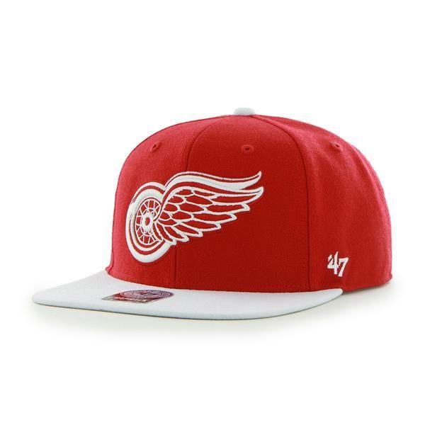 Eishockey 47brand Detroit Red Wings Captain Snapback Cap
