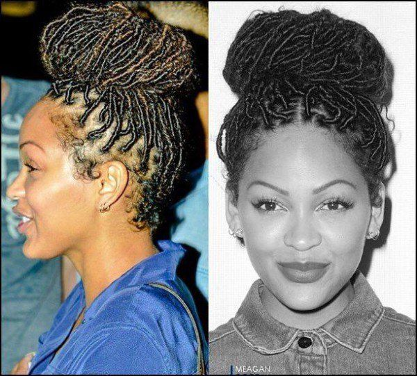 Faux Locs Hairstyles Enchanting Megan Good With Faux Locs  Black Hair Information Community