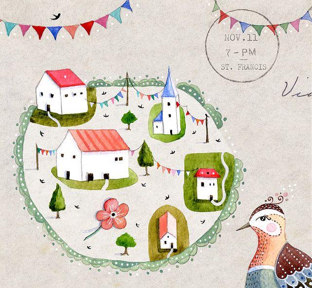 Preciosas ilustraciones de Lilymoon.  Bajo un limonero