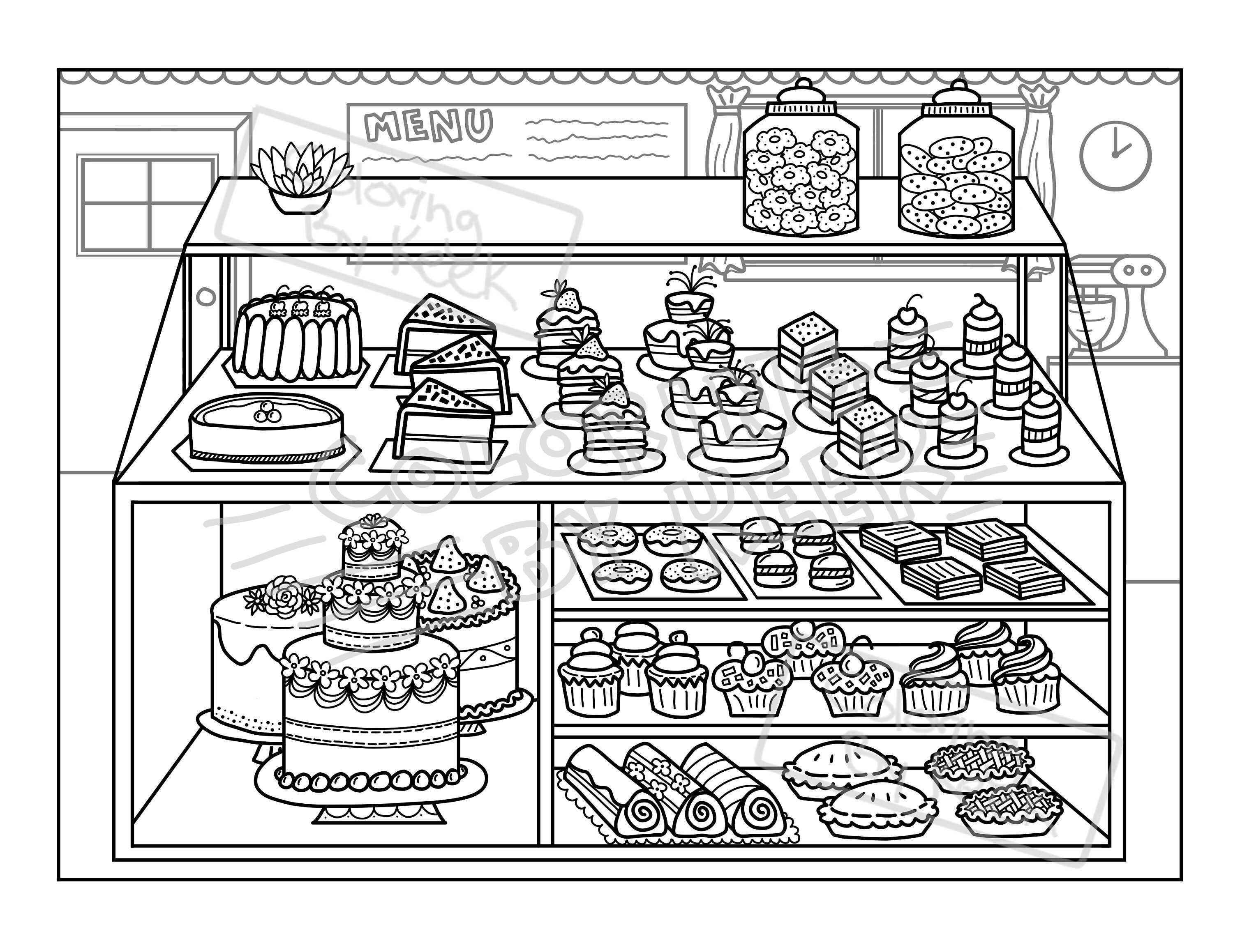 Free Easy To Print Cake Coloring Pages Food Coloring Pages Cute Coloring Pages Coloring Pages