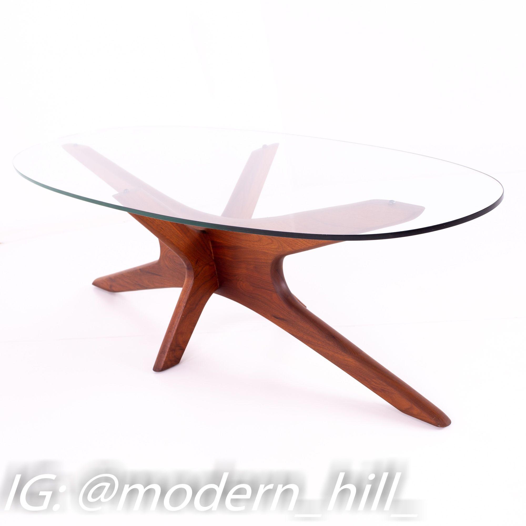 Adrian Pearsall Jacks Mid Century Walnut Glass Cocktail Coffee Table Coffee Table Coffee Table Prices Pearsall [ 2000 x 2000 Pixel ]