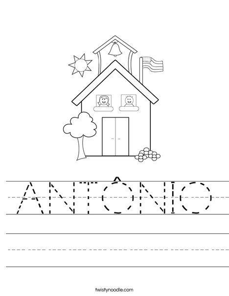 ANTÔNIO Worksheet - Twisty Noodle in 2020 | Preschool ...