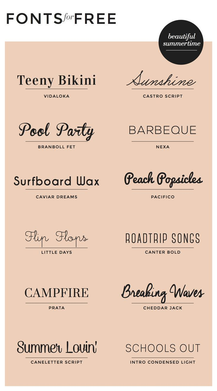 Free Fonts : Summertime
