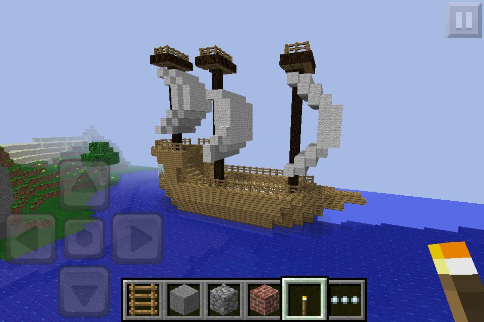 Boat i built in minecraft pe minecraft houses all