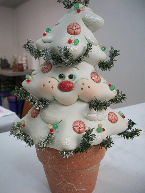 Ceramic Christmas Tree Crackpot Christmas Decoration Lighted