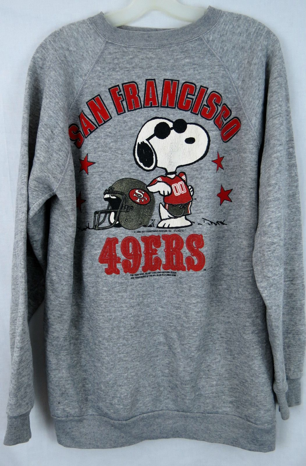 VINTAGE SAN FRANCISCO 49ers SWEATSHIRT SNOOPY JOE COOL NFL VINTAGE 90s LARGE a9a5e7710