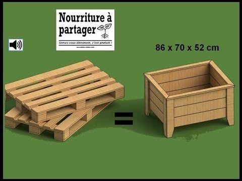 Fabrication du0027un bac à jardiner en bois de palette Pallets - construire un garage en bois m