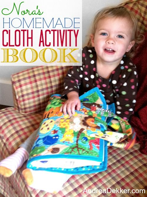 Nora S Homemade Cloth Activity Book Love This Shows Pics For