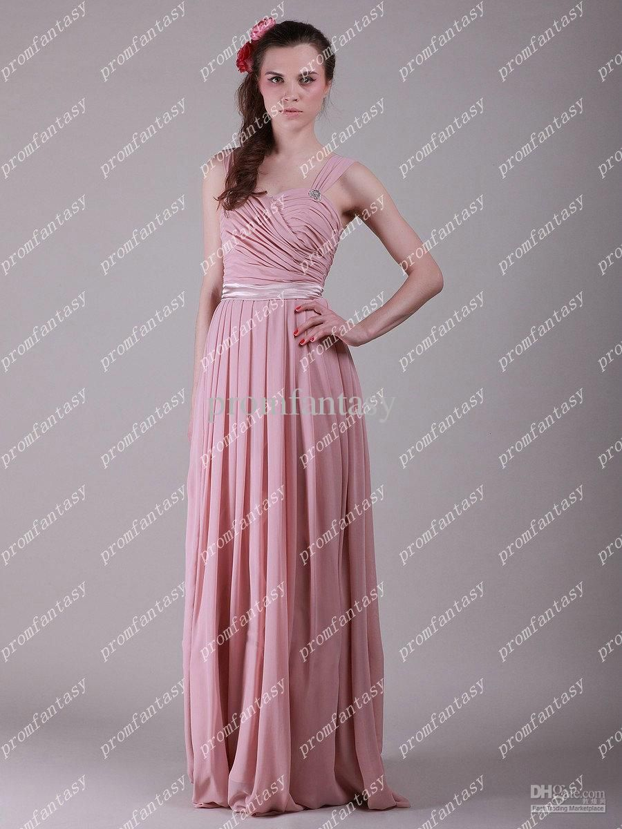 2016 free shipping new long pink chiffon evening gowns lace up beads 2016 free shipping new long pink chiffon evening gowns lace up beads cheap junior bridesmaid dresses wedding party gowns cheap custom made ombrellifo Image collections
