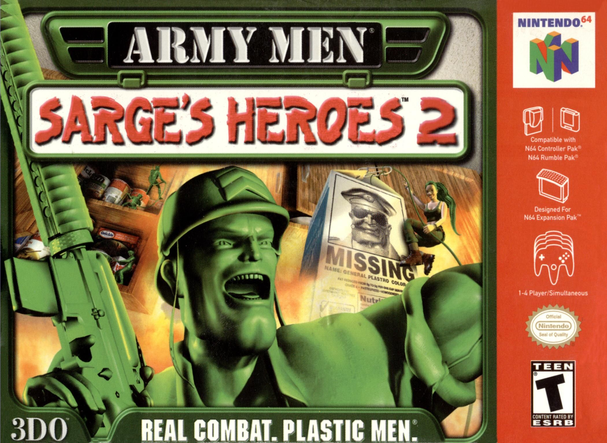 Pin By Aaron Viles On Nintendo Army Men Nintendo 64 Games