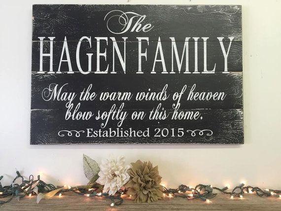 Family Name Sign Personalized Name Sign May by RusticlyInspired