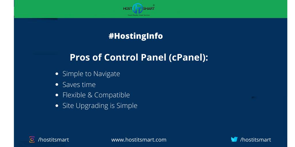 Pros of cPanel! in 2020 Cpanel, Hosting, Web hosting