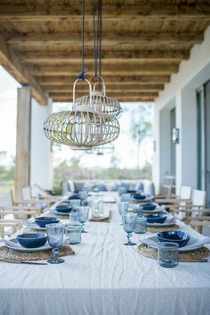 Une maison blanche et bleue à Ibiza architecture du0027intérieur