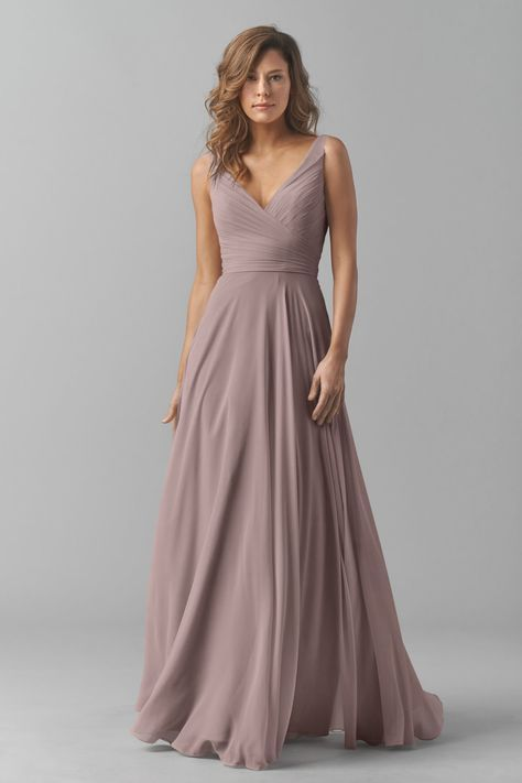 Shop Watters Bridesmaid Dress - 8542i in Crinkle Chiffon at ...