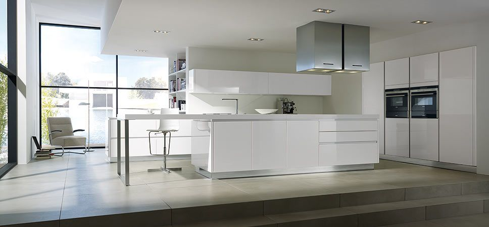Pronorm German Kitchens YLine. Gloss White Kitchen