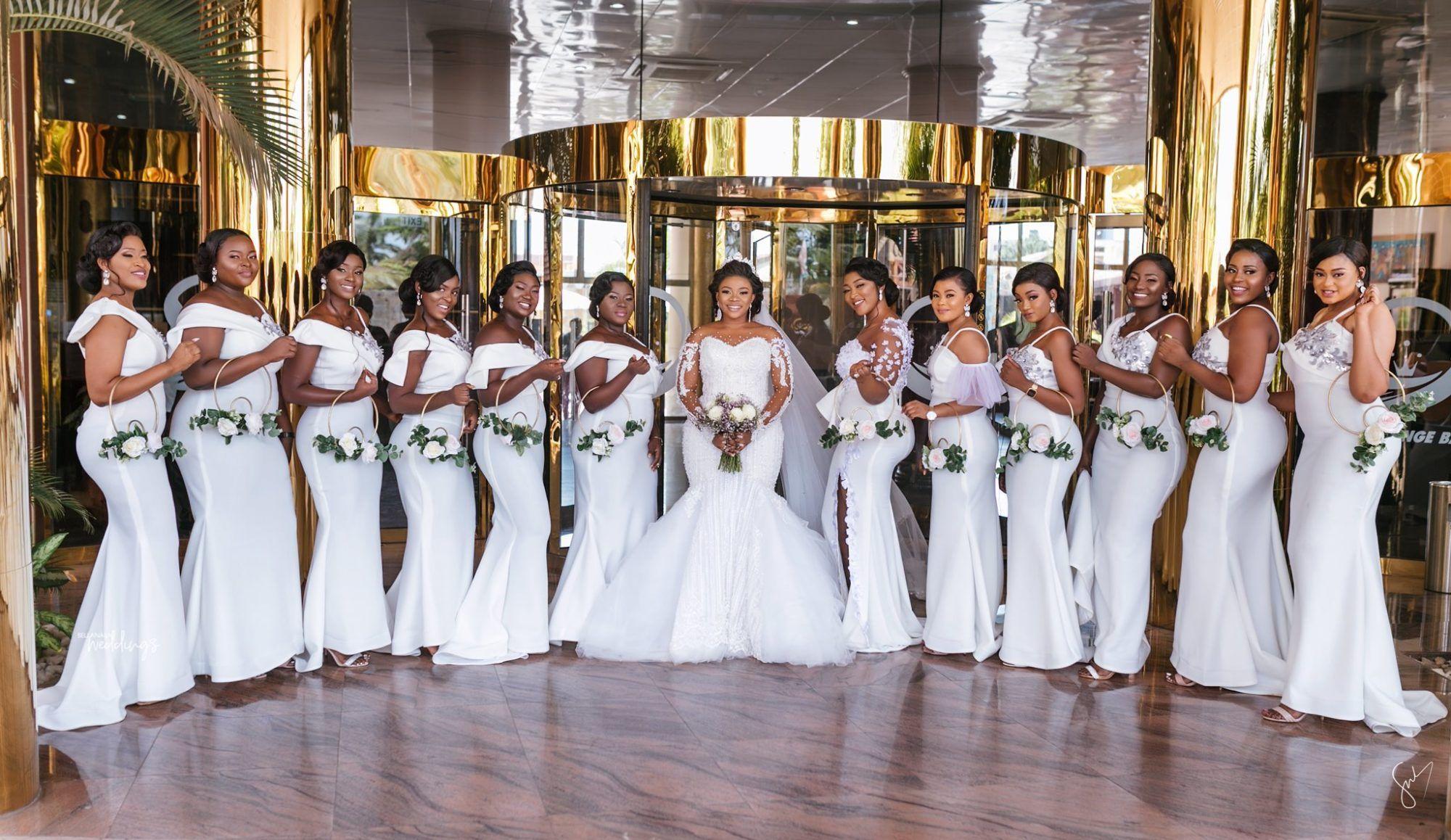 Loretta And Josh S White Wedding In Ghana Will Captivate You Easily Lovely Wedding Dress Girls Bridesmaid Dresses African Wedding Dress