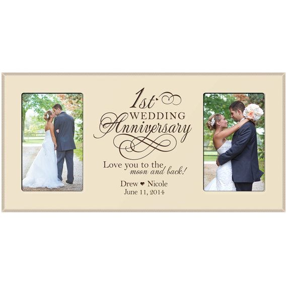 1st Wedding Anniversary Photo Frame By Dayspringmilestones On Etsy 1st Wedding Anniversary 1st Wedding Anniversary Gift Wedding Anniversary Pictures