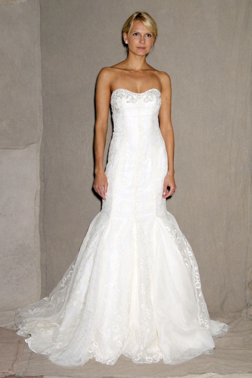 Lela Rose White Lace No Strap Mermaid Wedding Dress Bridesmaid Bridal Girls Formal Black Dresses Long Fashion Casual Printed: White Wedding Dresses No At Websimilar.org
