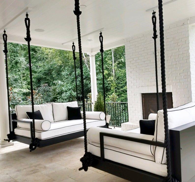 Balançoire intérieure et extérieure : Le lit de « Charlotte » Swing–livraison gratuite ! (Bedswing)