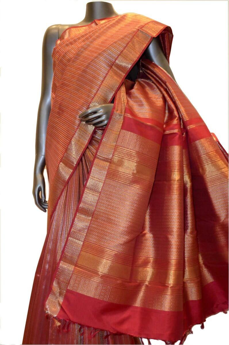 Tissue silk saree tissue zari brocade classic bridal grand kanjeevaram silk saree