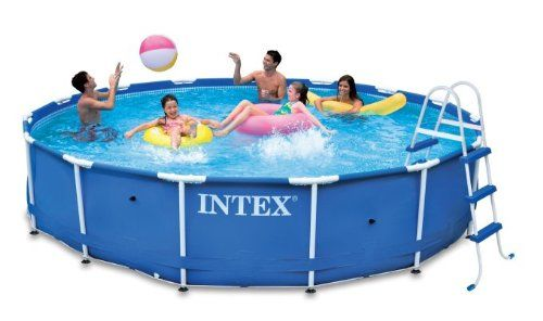Amazon Com Intex 15 X 36 Metal Frame Swimming Pool Set With 1000 Gph Gfci Pump Above Groun Cheap Above Ground Pool Best Above Ground Pool In Ground Pools