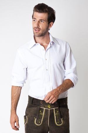 4a8f341b4f25d Trachten Shirt Marvin, white | CroMagnon411 | Lederhosen, Mens tops ...