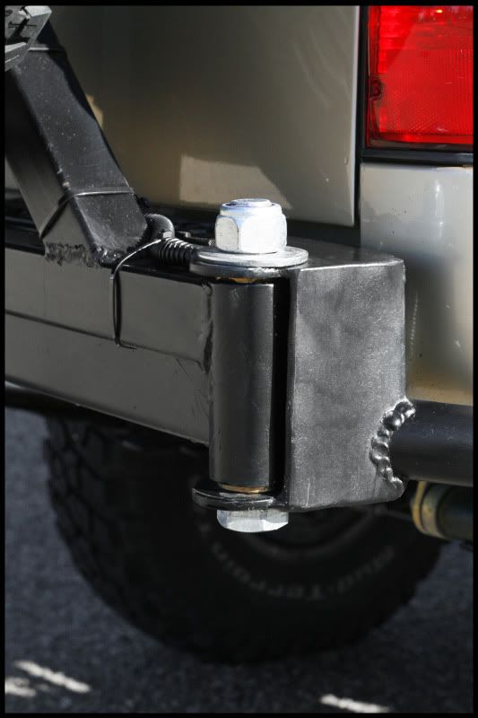 Tire Carrier Hinge Ideas For Rear Bumper Truck Bumpers Jeep