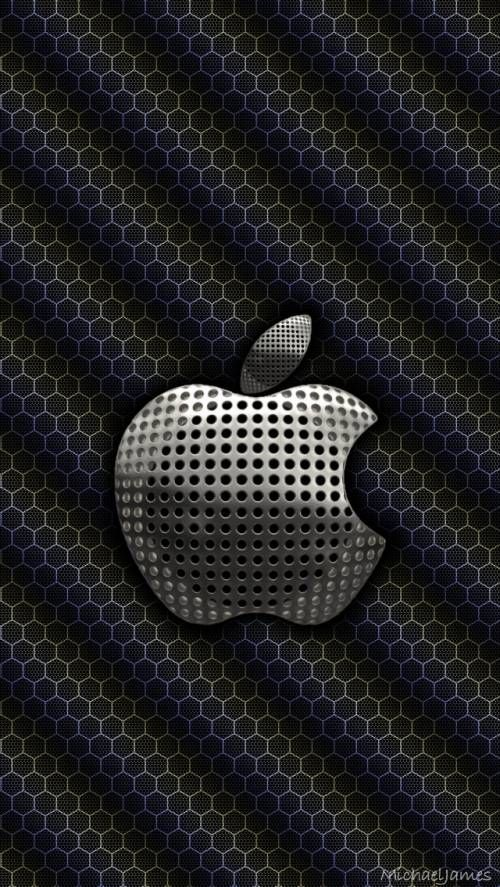 Steel Mesh In 2019 Apple Wallpaper Iphone Apple Logo