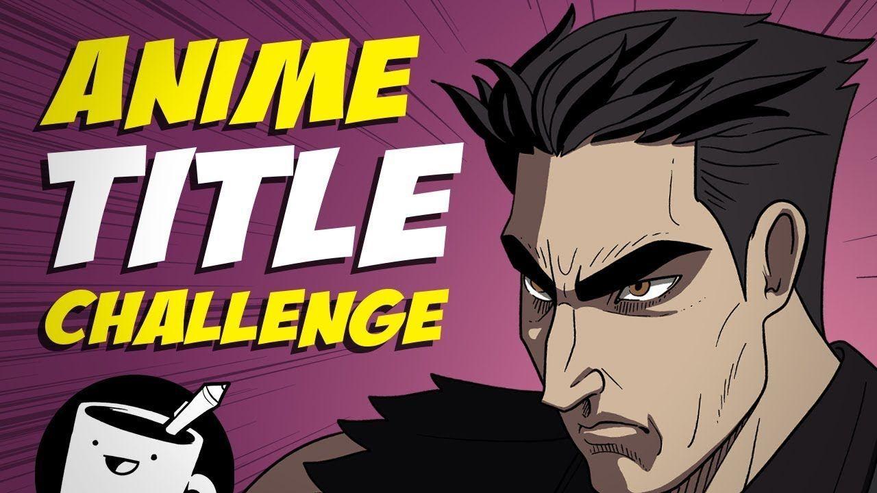 Défi de dessin de titre d'anime - #anime #dessin #titre - #new