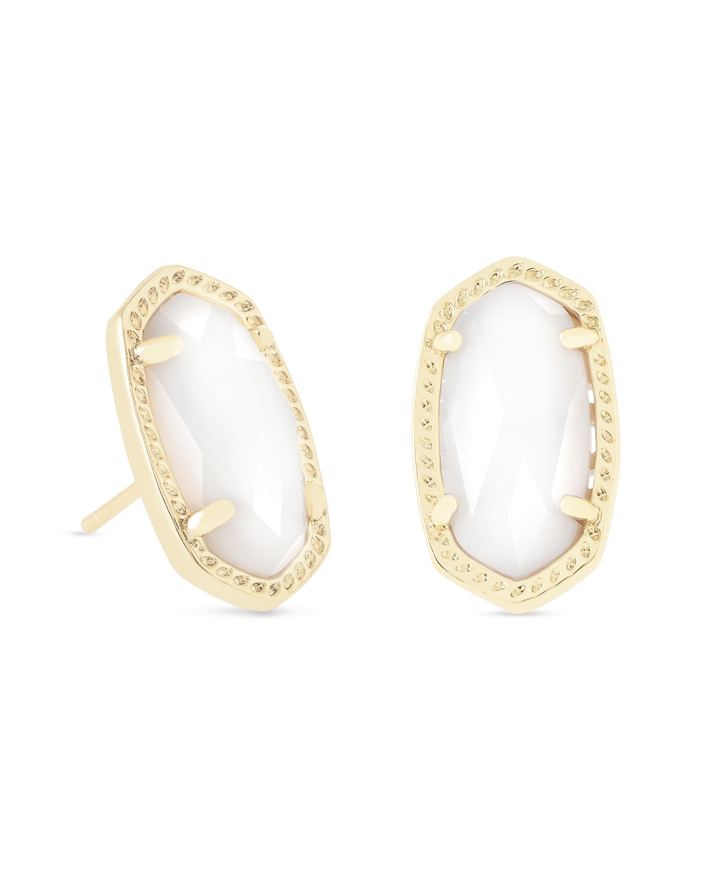 ca51c61ca Ellie Gold Stud Earrings in White Pearl - Kendra Scott Jewelry ...