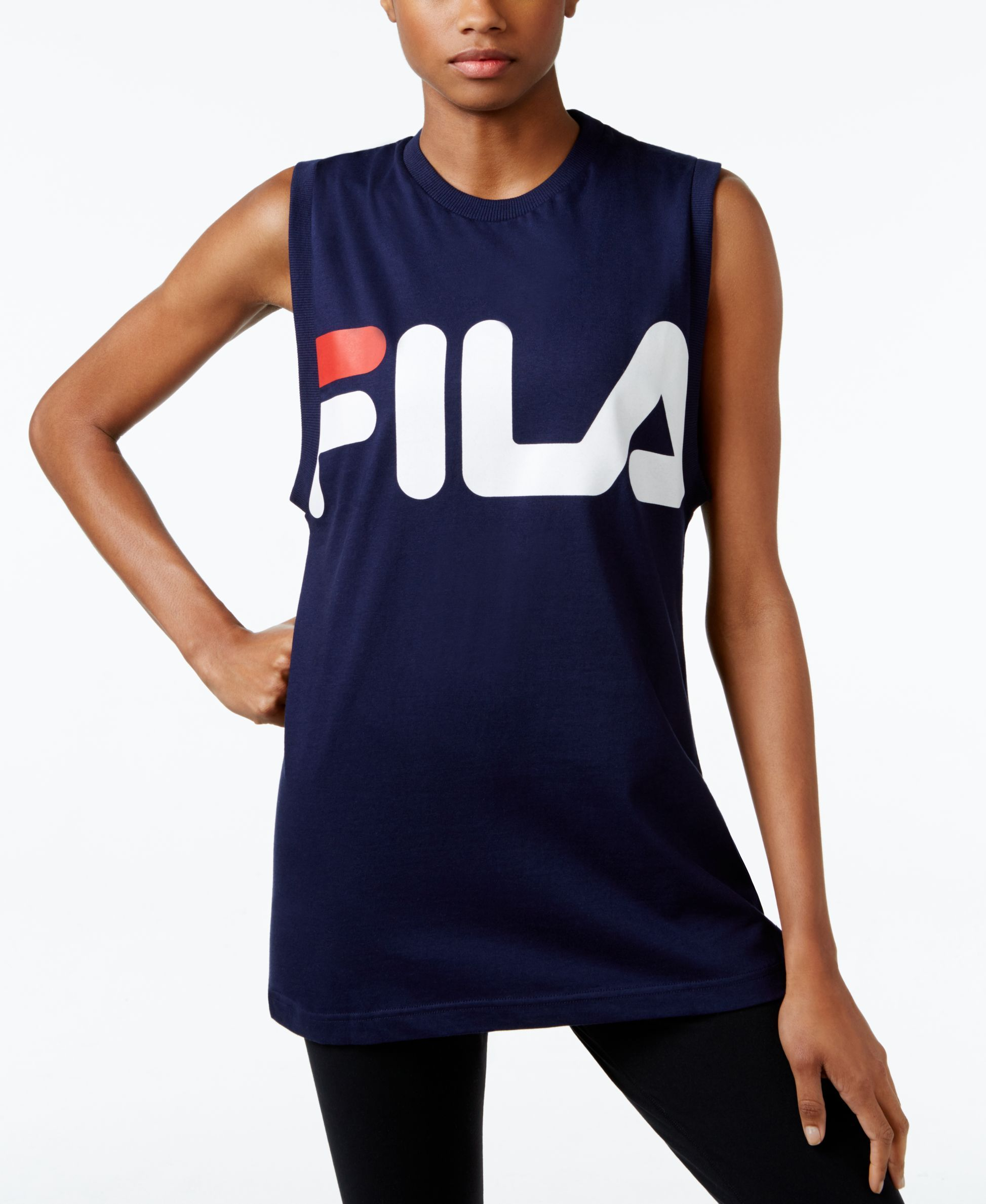 751561aea309a Fila Sesto Sleeveless Tank | Products | Tank tops, Athletic tank ...