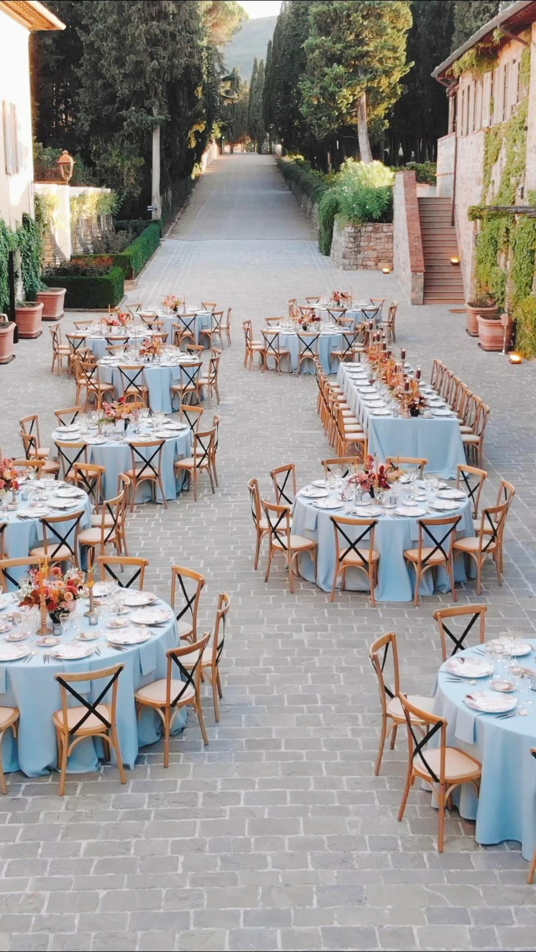 Stunning wedding reception at Castiglion del Bosco