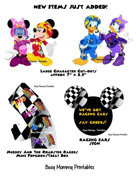 Mickey And The Roadster Racers Inspired Huge Party Package