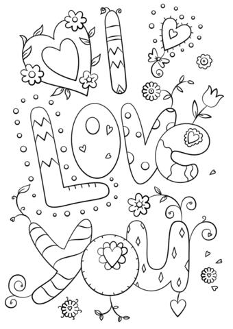 I Love You Coloring Page Lustige Malvorlagen Kostenlose Ausmalbilder Malbuch Vorlagen