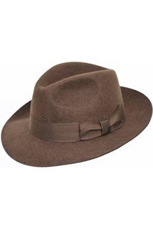 Hombre Sombreros - Sombrero Fedora de fieltro con amplia visera ... 73dc1e7687b