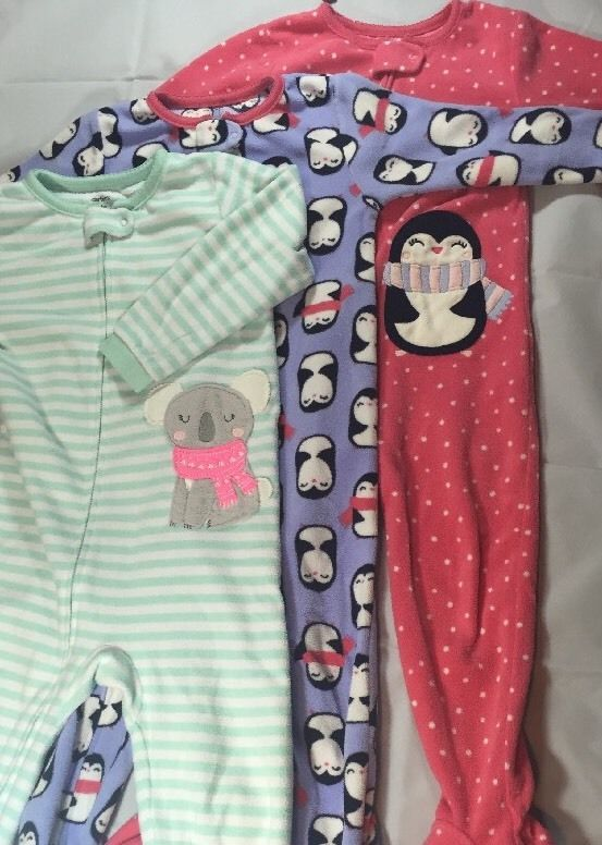 be23db2b9 Carter's sleeper 3 Pack Animal Girls size 3T Baby girls pajamas #Carters
