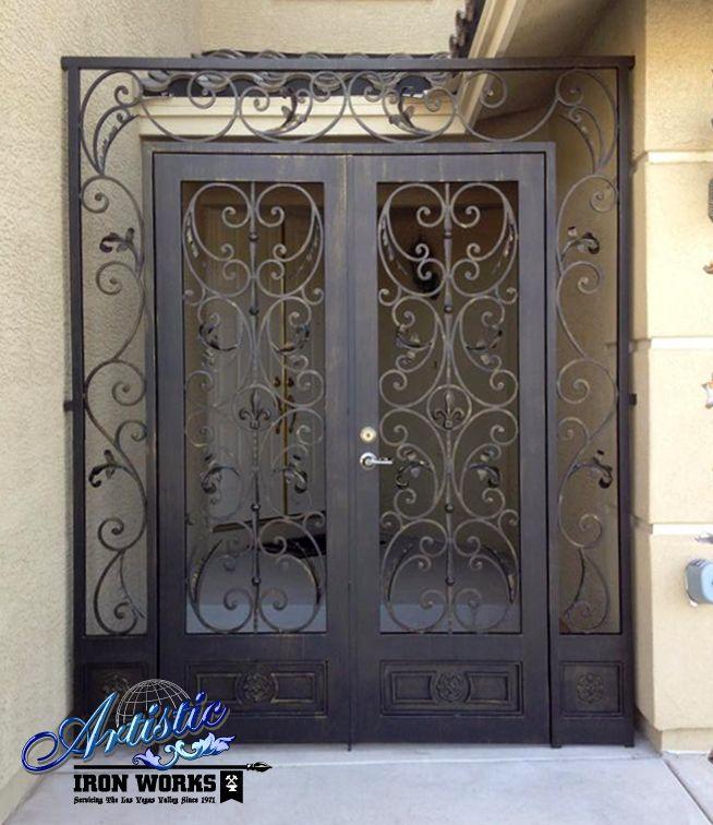 Toulouse Wrought Iron Entryway Model Ew0363 Metal Front Door Security Gates Iron Front Door