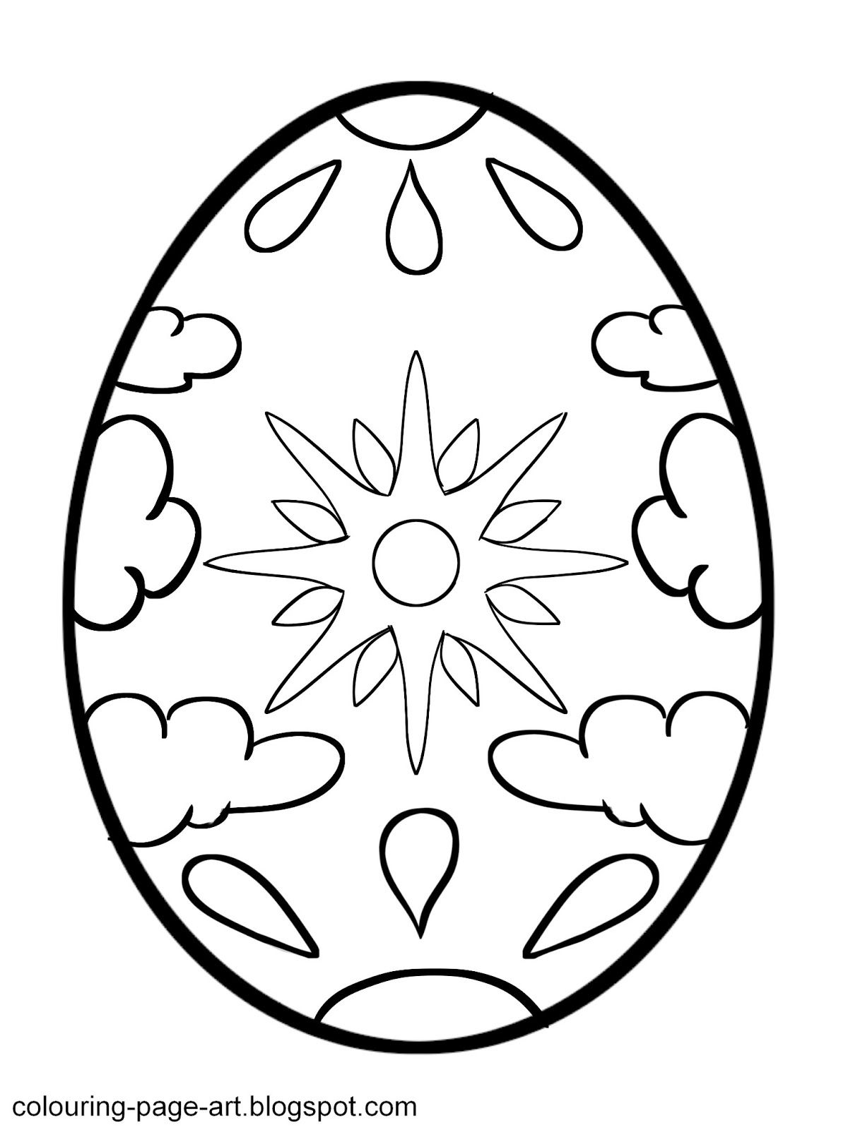 Free Printable Easter Egg Templates and Coloring Sheets - Simple ... | 1600x1200