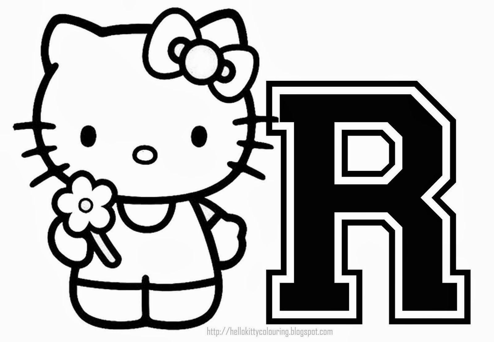 Hello Kitty Alphabet for Coloring. Alfabeto de Hello Kitty para ...