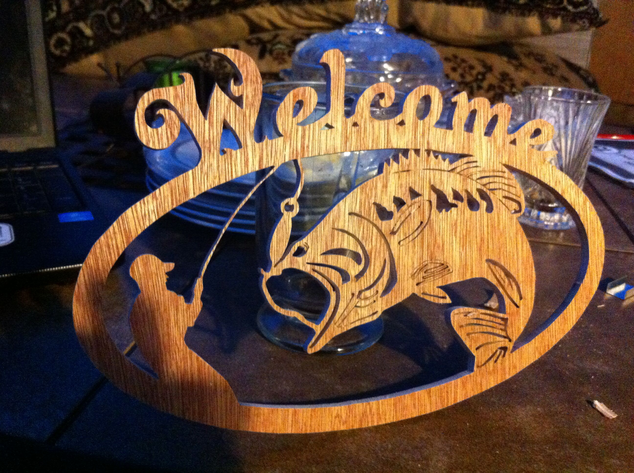 Hand made Scroll saw welcome sign | Hand made scroll saw ...