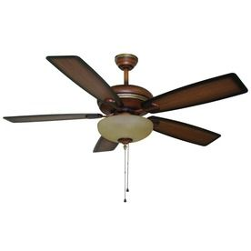 Only At Lowe S Harbor Breeze 52 In Cabrillo Walnut Ceiling Fan With Light Kit Item 294989 Model E Pen5 Ceiling Fan Parts Ceiling Fan Shop Ceiling Fans