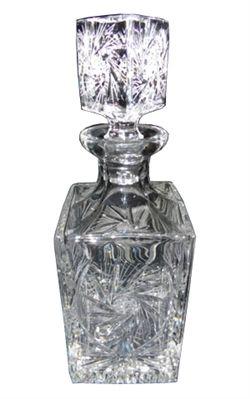Polish Starburst Cut Crystal Decanter - .75L - 25oz   Decanters   Pinterest   Crystal decanter ...