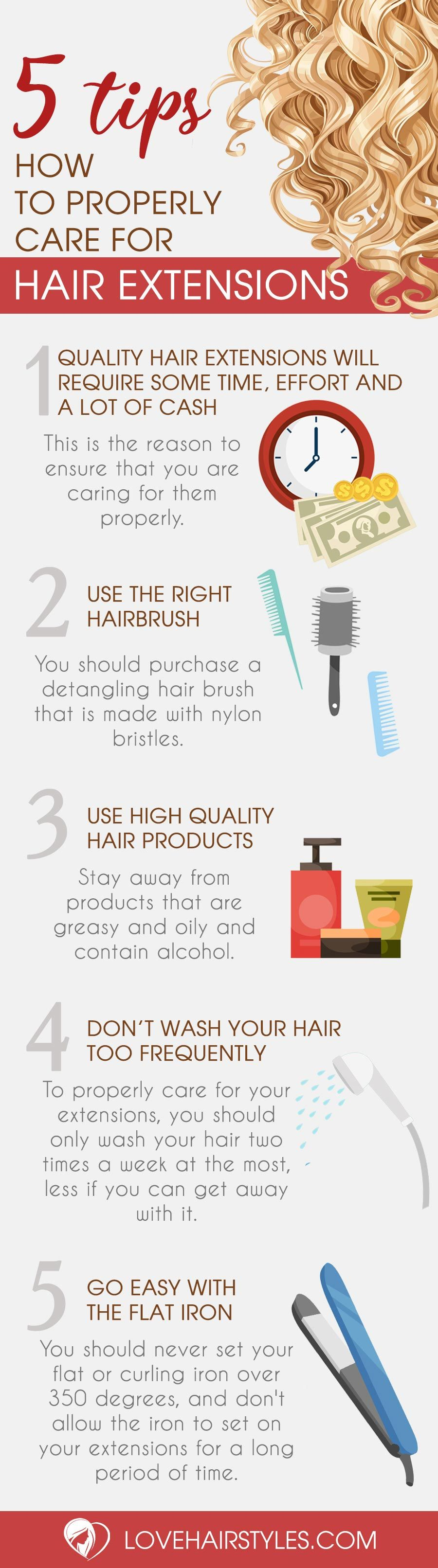 How To Care For Hair Extensions Infographic Pinterest Hair