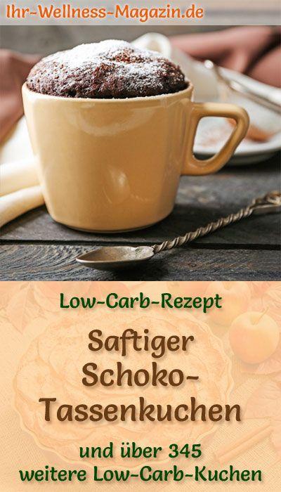 Schneller, saftiger Low Carb Schoko-Tassenkuchen - Rezept ohne Zucker #proteinmugcakes