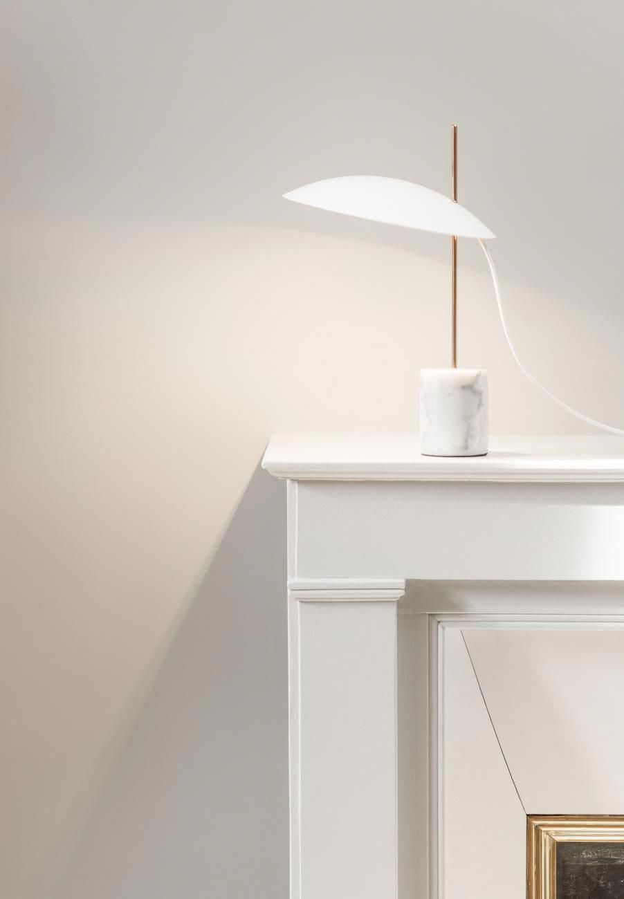 Inventive Lampe Clam A Poser En Cuivre Blanc Habitat