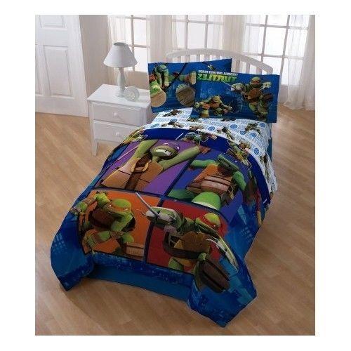 Teenage Mutant Ninja Turtles Comforter And Sheet Set Disney Http Www Amazon Com Dp B00hlsjpve Ref Cm Sw R Pi Dp Kids Bedroom Sets Tmnt Room Baby Bedding Sets