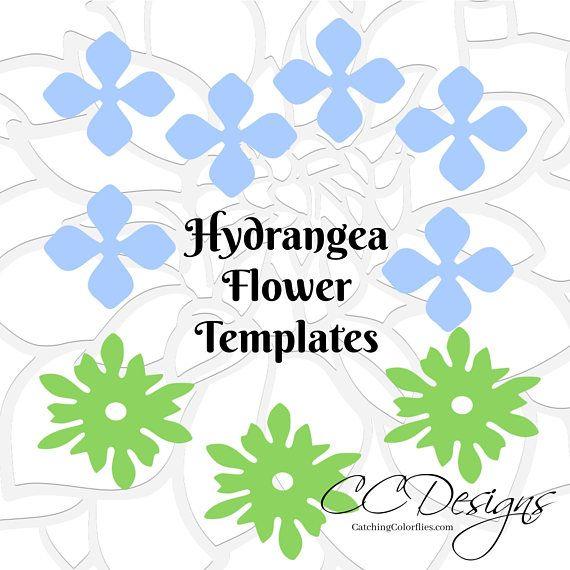 Plantillas De Flores De Papel Y Patrones Pdf Flores De Papel Etsy In 2020 Flower Template Paper Flower Template Flower Templates Printable