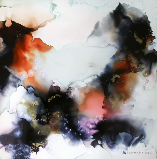 Abstract Art Watercolor Textiles By Marta Spendowska