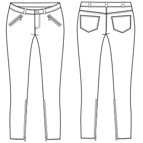 Modelos De Ropa Profesional Hazlo Tu Mism Pantalon Chupin 710 Dama Pantalones Molde