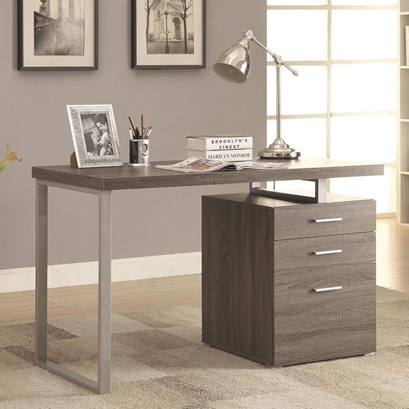 perfect grey wood office desk 13